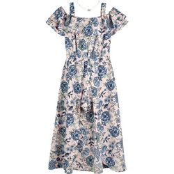 Amy Byers Big Girls Floral Ruffle Walk Through Dress