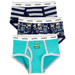 Little Boys 3-pk. Cotton Construction Briefs