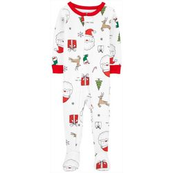 Carters Baby Boys Holiday Print Snug Fit Footie Pajamas
