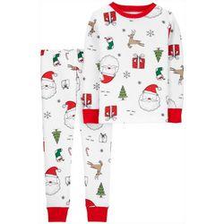 Carters Toddler Boys 2-pc. Holiday Pajama Set