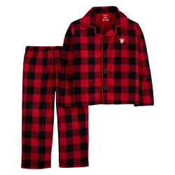 Toddler Boys Buffalo Plaid Fleece Pajama Set