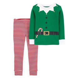 Toddler Boys Elf Suit Snug Fit Pajama Pants Set
