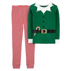 Little Boys Elf Suit Snug Fit Pajama Pants Set