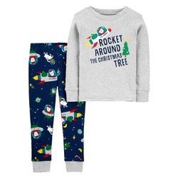 Toddler Boys Rocket Pajama Pants Set