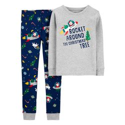 Little Boys Rocket Pajama Pants Set