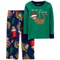 Toddler Boys 2-pc. Santa Sloth Pajama Set