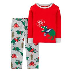 Toddler Boys Merry Rexmasi Pajama Pants Set