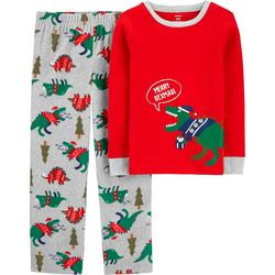 Little Boys Merry Rexmasi Pajama Pants Set
