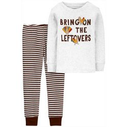 Toddler Boys Long Sleeve Turkey Pajama Set