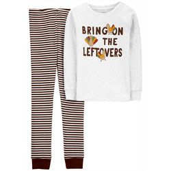 Little Boys Long Sleeve Turkey Pajama Set