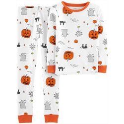 Carters Little Boys Pumpkin Pajama Pants Set