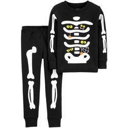 Carters Toddler Boys Glow In The Dark Bones Pajama Set