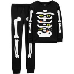 Carters Little Boys Glow In The Dark Skeleton Pajama Set