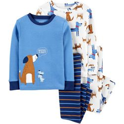 Carters Toddler Boys 4-pc. Bedtime Is Ruff Pajama Pants Set