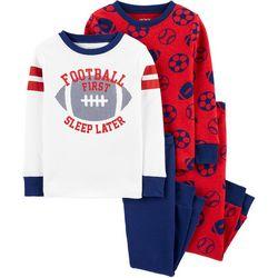 Toddler Boys 4-pc. Football First Pajama Pants Set