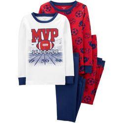 Little Boys 4-pc. MVP Sleeper Pajama Pants Set