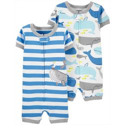 Carters Toddler Boys 2-pc Whale Romper Pajama Set