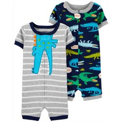 Carters Toddler Boys 2-pc Alligator Romper Pajama Set