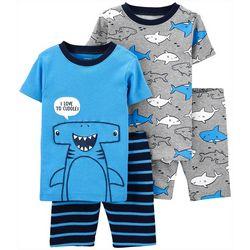 Toddler Boys 4-pc. Shark Sleepwear Set