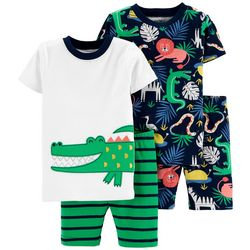 Carters Toddler Boys 4-pc. Gator Sleepwear Set