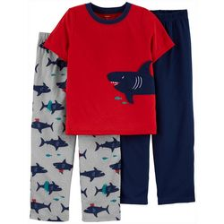 Little Boys 3-pc. Shark Pajama Set