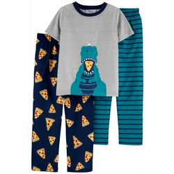 Little Boys 3-pc. Dino Pajama Set