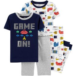 Carters Little Boys 4-pc. Game On Snug Fit Pajama Pants Set