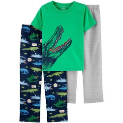 Carters Little Boys 3-pc. Alligator Pajama Set