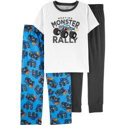 Carters Little Boys 3-pc. Monster Pajama Set
