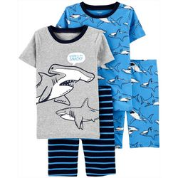 Little Boys 4-pc. Shark Sleepwear Set