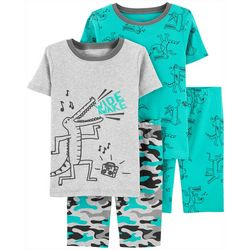 Carters Little Boys 4-pc. Wide Awake Sleepwear Set