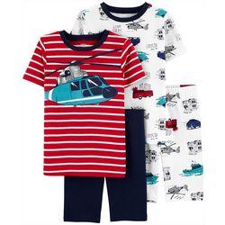 Little Boys 4-pc. Helicopter Sleepwear Set