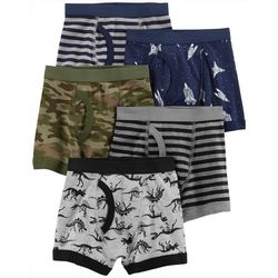 Little Boys 5-pk. Dino Stripe Briefs