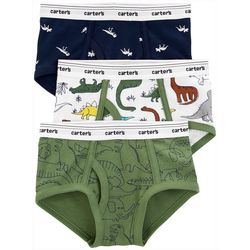 Little Boys 3-pk. Dinosaur Print Cotton Briefs