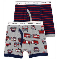 Little Boys 2-pk. Firetruck Boxer Briefs
