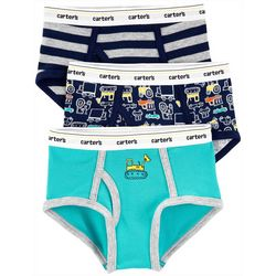 Carters Little Boys 3-pk. Cotton Construction Briefs