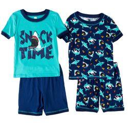 Only Boys Big Boys 4-pc. Snack Time Shark Pajama Short Set