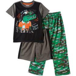 Big Boys 3-pc. Later Gator Pajama Set
