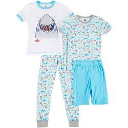 Big Boys 4-pc. Bedtime Bites Sleepwear Set