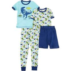 Big Boys 4-pc. Dino Sleepwear Set