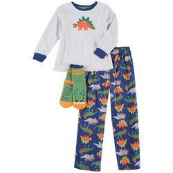 Big Boys 3-pc. Dino Pajama Set