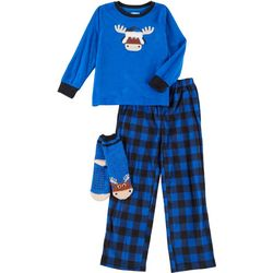 Big Boys 3-pc. Moose Pajama Set