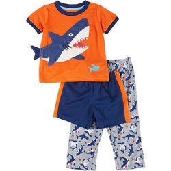 Rene Rofe Toddler Boys 3-pc. Dino Pajama Set