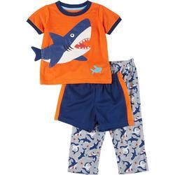 Toddler Boys 3-pc. Dino Pajama Set