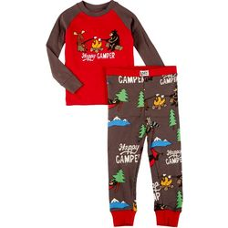 Lazyone Toddler Boys 2-pc. Happy Camper Pajama Set