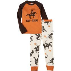Lazyone Toddler Boys 2-pc. Yee Haw Pajama Set