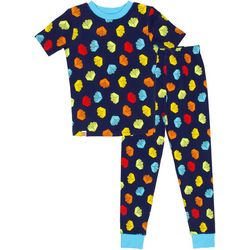Little Boys 2-pc. Brick Pajama Set