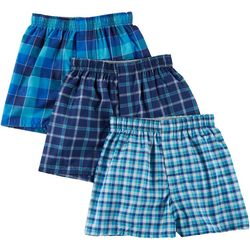 Boys 3-pk. Platinum Comfort Soft Plaid Boxers