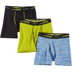 Boys 3-pk. X-Temp Mesh Space Dye Boxer Briefs