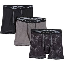 Hanes Boys 3-pk. X-Temp Performance Stretch Boxer Briefs